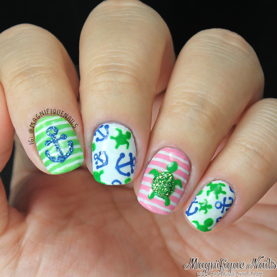Beach inspired nail art designs turtle summer and summery nails beach inspired nail art designs prinsesfo Image collections