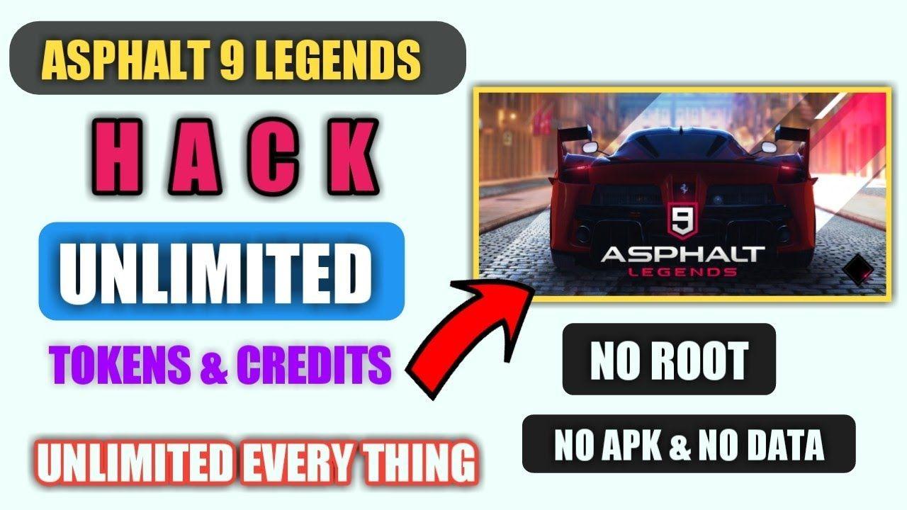 Get unlimited tokens & credits in Asphalt 9 Legends right