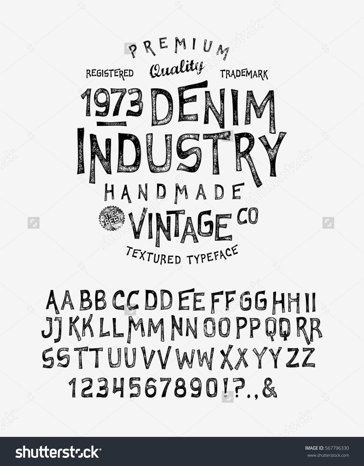 Font Denim Industry Craft Retro Vintage Typeface Design Youth Fashion Type Flair Serif Textured Alphabet P Font Design Logo Graphic Design Fonts Lettering