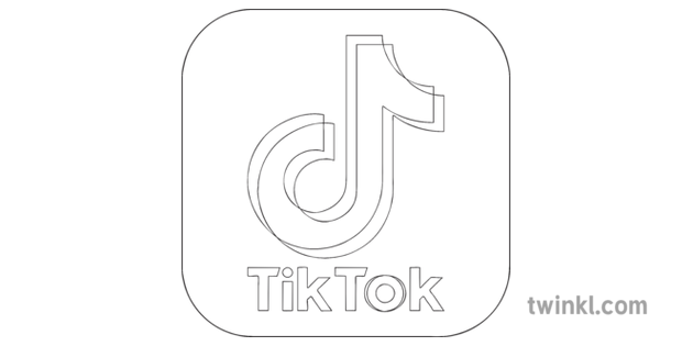 Tik Tok App Icon Black And White Rgb Illustration Twinkl In 2021 Logo Clipart App Logo App Pictures