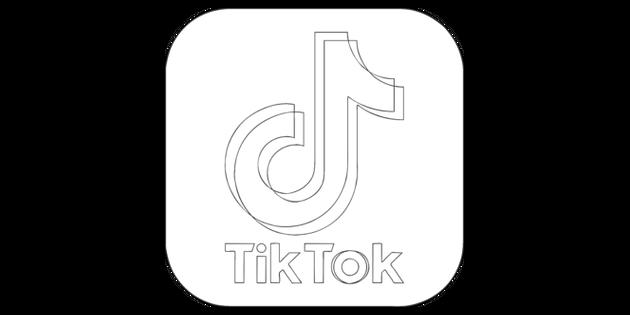 Tik Tok App Icon Black And White Rgb Illustration Twinkl Logo Clipart App Logo App Pictures