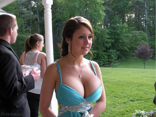 at Amazing prom tits