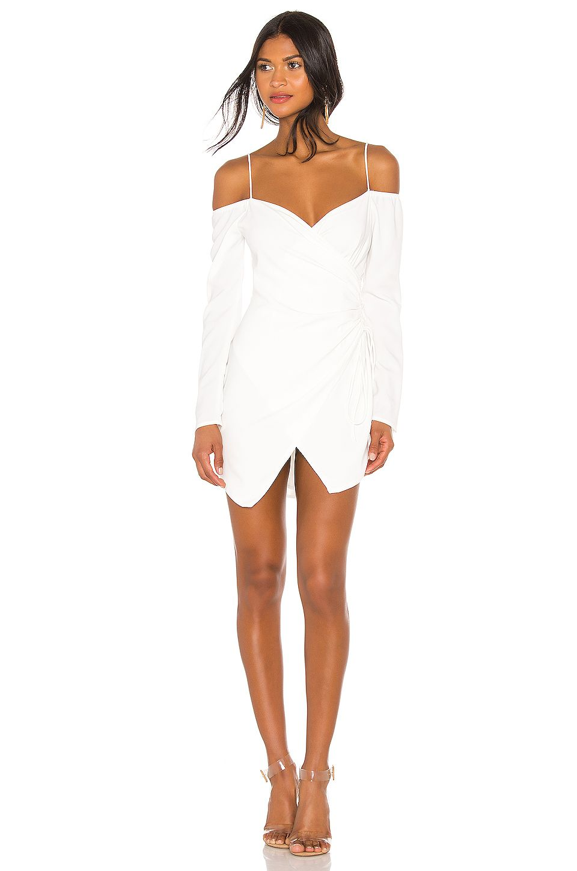 Superdown Edith Wrap Dress In White Revolve Fashion Clothes Women Wrap Dress White Dress [ 1450 x 960 Pixel ]