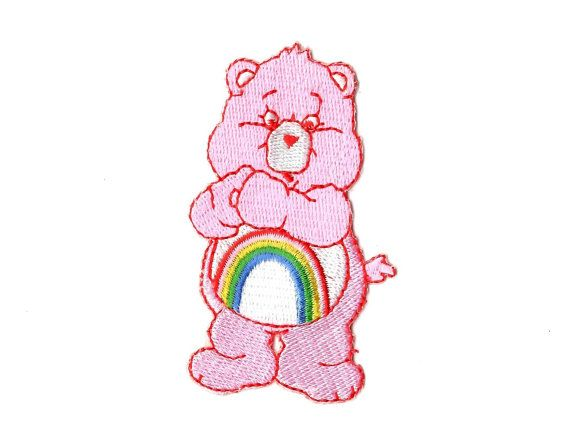 Care Bear Blue 7.5cm Patch Embroidered Sew or Iron on Badge