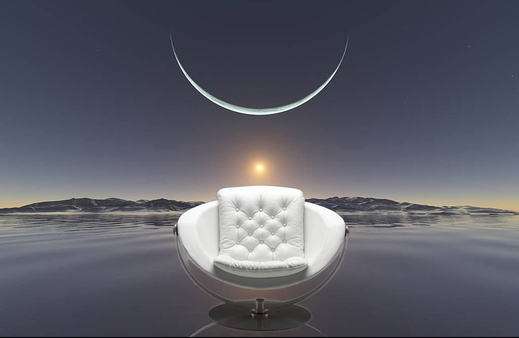 Charmant The Swivel Moon Chair Designed By Danish Furniture Designer Steen  Ostergaard, The Alpha Chair To Own. Produced By Nielaus.dk