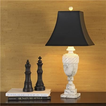Antique White Marble Urn Table Lamp You Light Up My Life