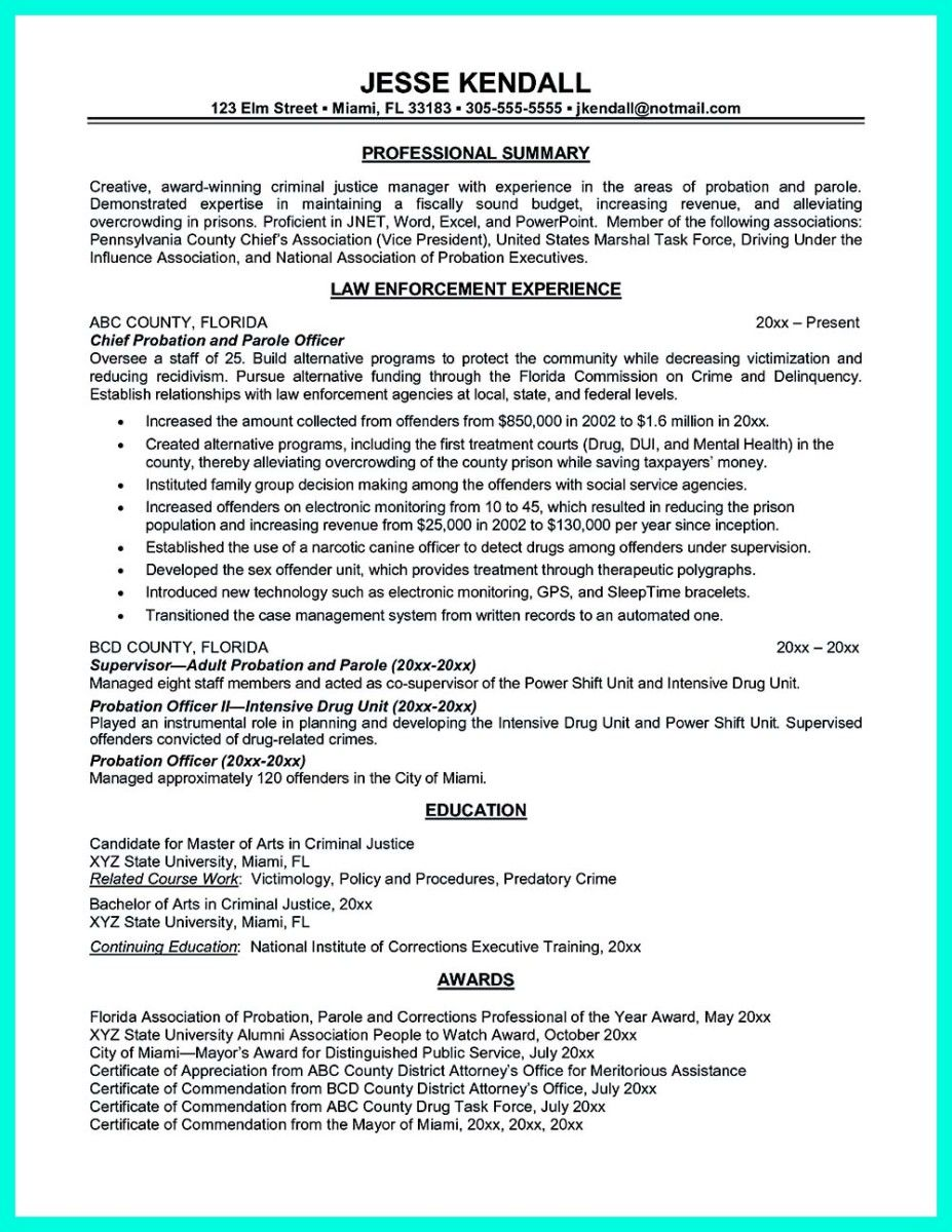 Marvelous Correction Officer Resume Perfect Correctional Parole Cover Letter Throughout Corrections Officer Resume