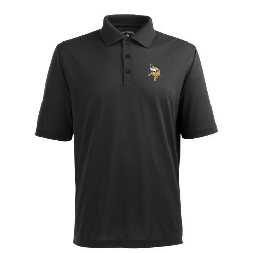 NFL Men's Minnesota Vikings Pique Xtra Lite Desert Dry Polo Shirt Antigua. $29.99