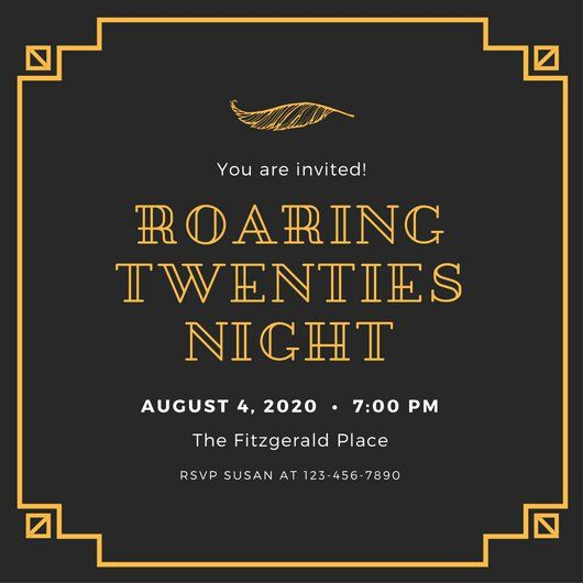 Black and gold 1920s party invitation golden birthday pinterest black and gold 1920s party invitation filmwisefo Choice Image