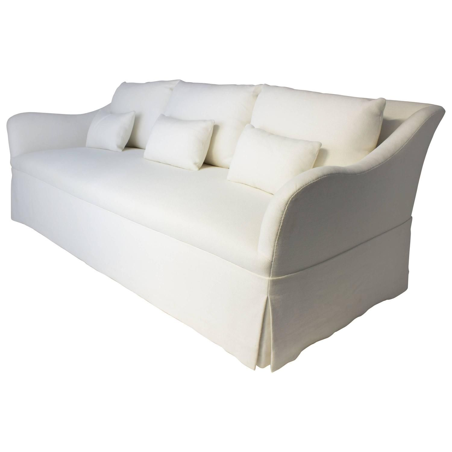 linen bench cushion sofa modern sets with price custom fabricated six loose back cushions in