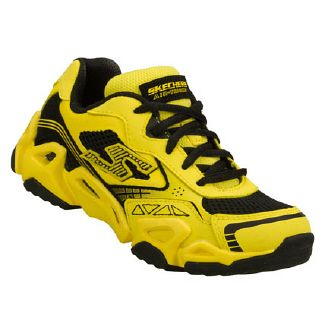 Skechers Airlude Pre/Grd Shoes (Yellow/Black) - Kids' Shoes - 11.0 M