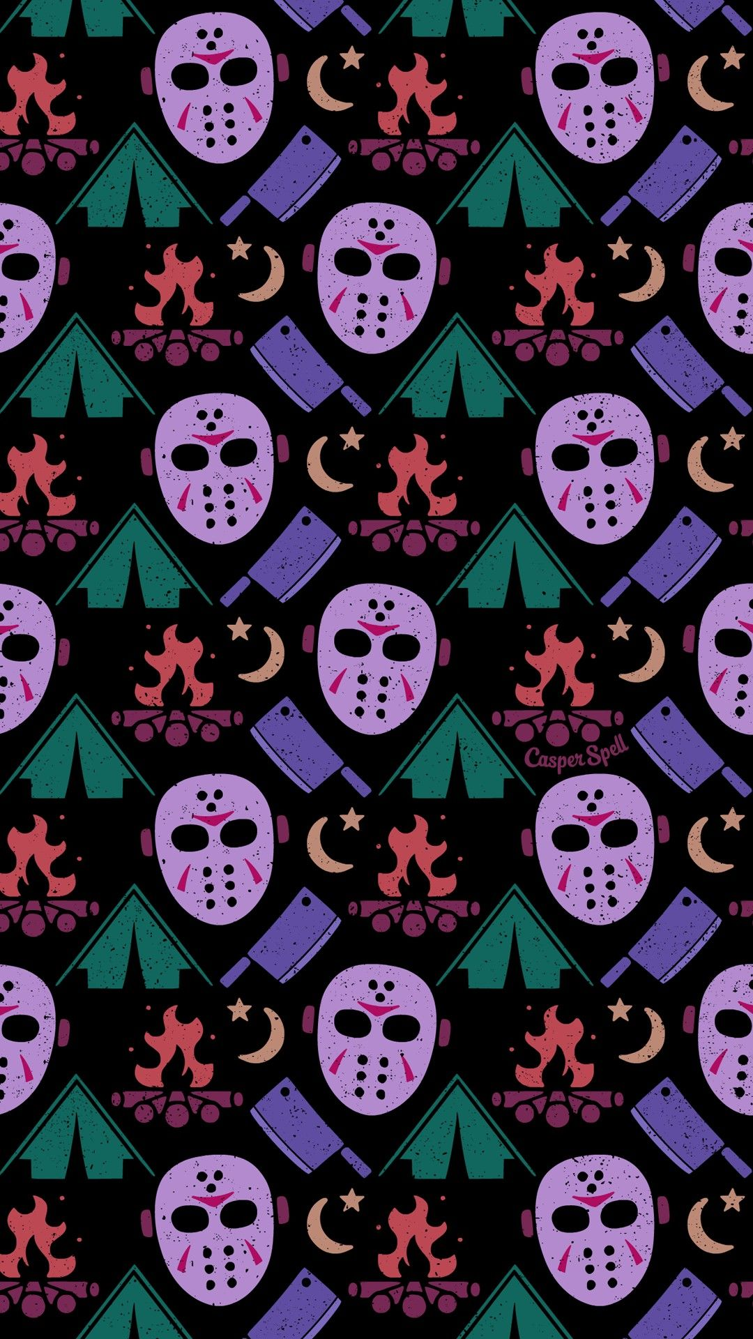 Camping With Jason Voorhees Halloween Wallpaper Iphone Halloween Wallpaper Art Wallpaper