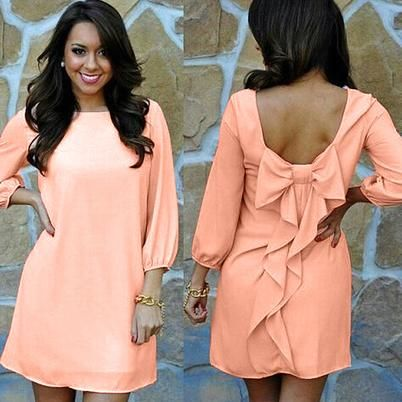 Bowknot Back Mini Dress - Adorable For You | Scott's Marketplace