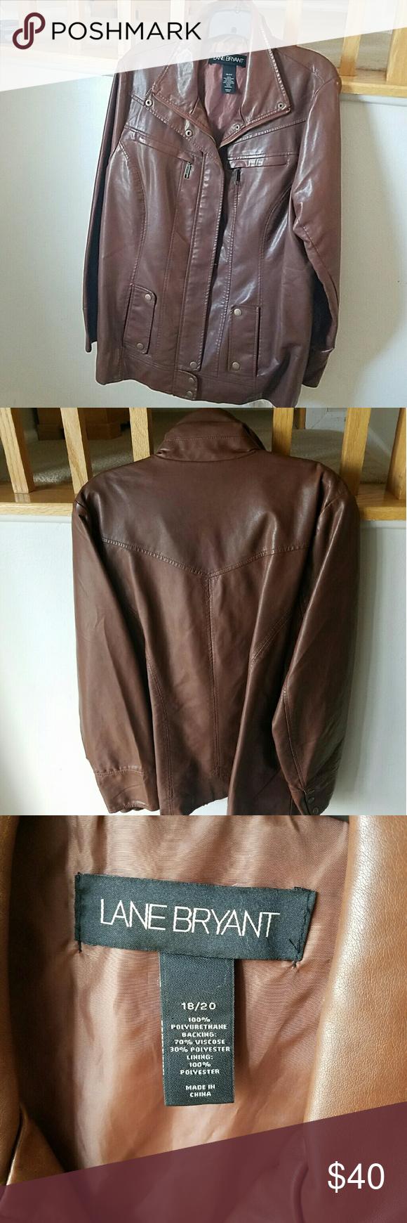 Leather jacket size 18 - Leather