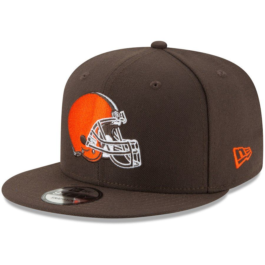 Men S Cleveland Browns New Era Brown Basic 9fifty Adjustable Snapback Hat Your Price 27 99 Cleveland Browns Browns Fans New Era
