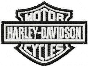 free harley davidson logo embroidery design for instant download rh pinterest com harley davidson logos free downloads harley davidson logos free