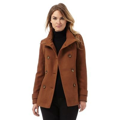 check out excellent quality outlet The Collection Brown reefer jacket | Debenhams | Jackets ...