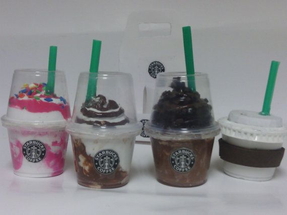 Starbucks inspired    drinks   4 cups with by FUZZYPINKBODYTREATS, $16.75