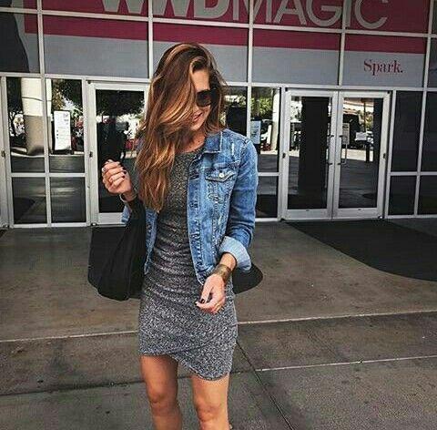 Vestido Gris Ropa Y Zapatos Fashion Dresses Casual