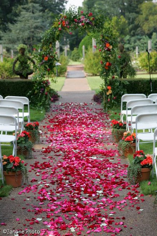 Rose garden botanical gardens wedding venues