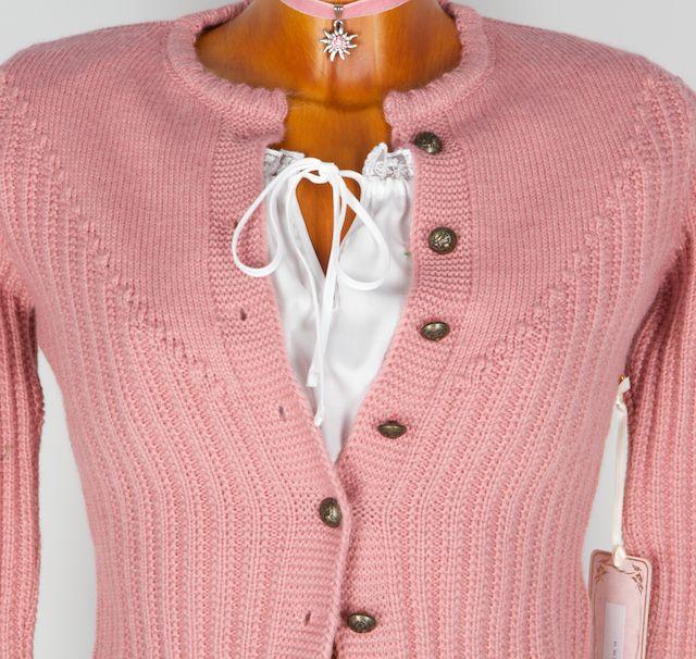 Trentini Brigitte Strickjacke Altrosa Gr Xs Trachtenhimmel Mode