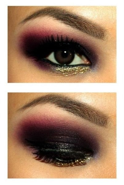 Rocker chic - Eyeshadow. I really like this. So pretty. I wish I were cool enough to wear this or talented enough to reproduce it.
