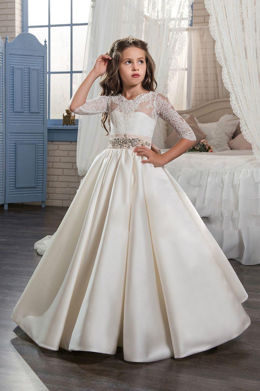 lace flower girl dresses uk