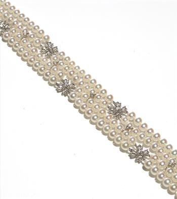 TIFFANY & CO.  A Cultured Pearl and Diamond Choker