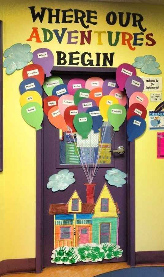 Up Up and Away | 29 Awesome Classroom Doors For Back-To-School  sc 1 st  Pinterest & 29 Awesome Classroom Doors For Back-To-School | Pinterest ...