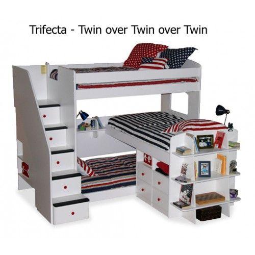 Berg Furniture Utica Trifecta Triple Twin Loft Bed 23 777. $2195