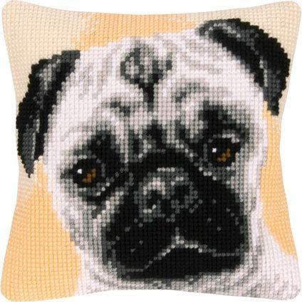 pug pillow Needlepoint and Stitchery Pinterest More Needlepoint ideas