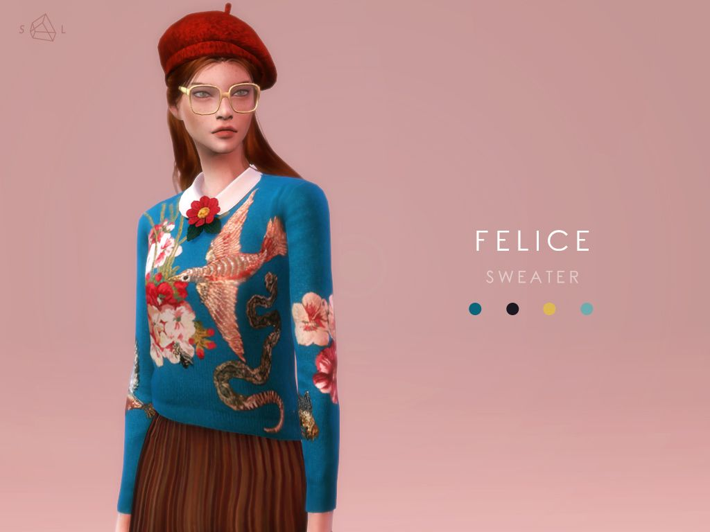 Knit Top Accessory Collar Set Felice Gucci This Set