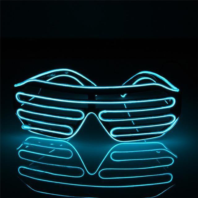 Flashing EL Wire Led Glasses Luminous Party Decorative Lighting ...