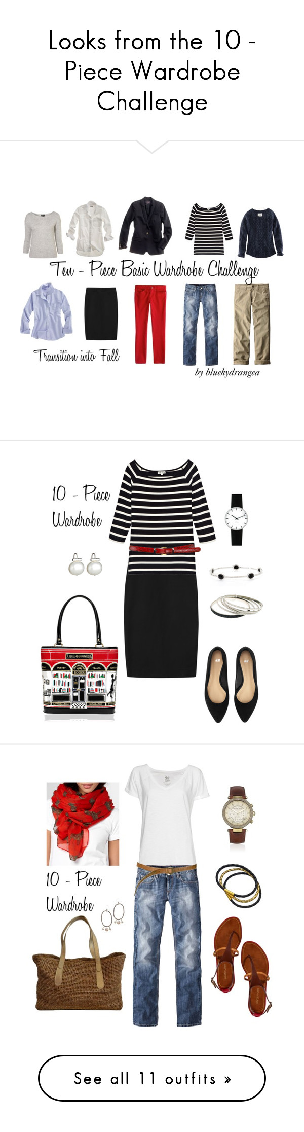 Looks From The 10 Piece Wardrobe Challenge By Bluehydrangea On Polyvore Featuring Polyvore Fashion Style Madewell J Cr 10 Piece Wardrobe Fashion Wardrobe
