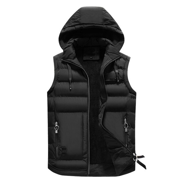 Men Autumn Winter Hooded Sleeveless Vest Chaleco Capucha Sin Mangas Para Hombre Biaoqibing Hoodedsleevelessjacket Hombre Casual Moda Casual Sleeveless Vest