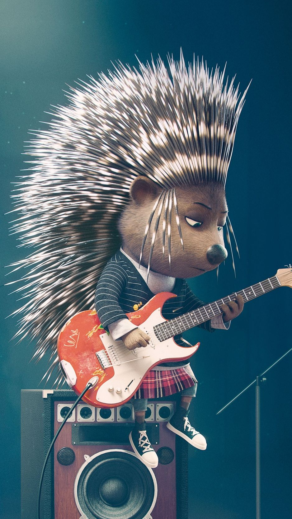 Sing Ash Porcupine Wallpaper Background Iphone Sing Movie Cute Cartoon Wallpapers Animated Gift