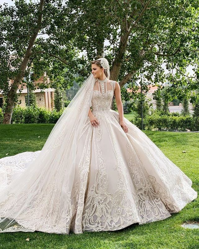 Photo of When You're Elie Saab's Daughter-in-Law, Your 4 Wedding Dresses Look Like This — POPSUGAR