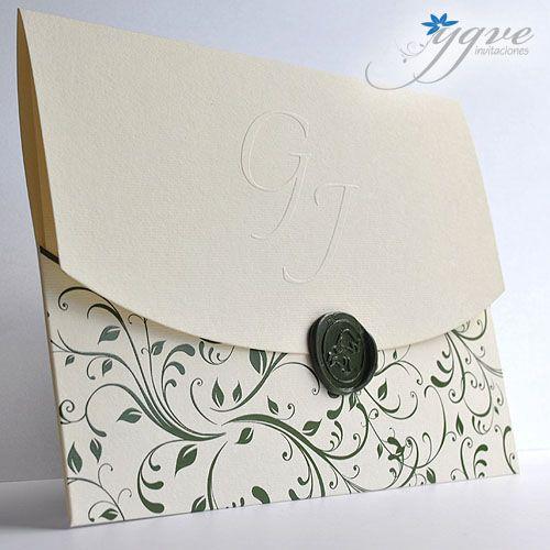 f1bedbd370da6 Aquí pueden ver algunos modelos de invitaciones de boda con sellos de lacre  que les da un toque muy elegante y exclusivo. Estas invitac.