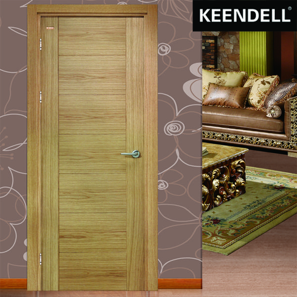 UK Style Natural Veneer Plain Solid Wood Door