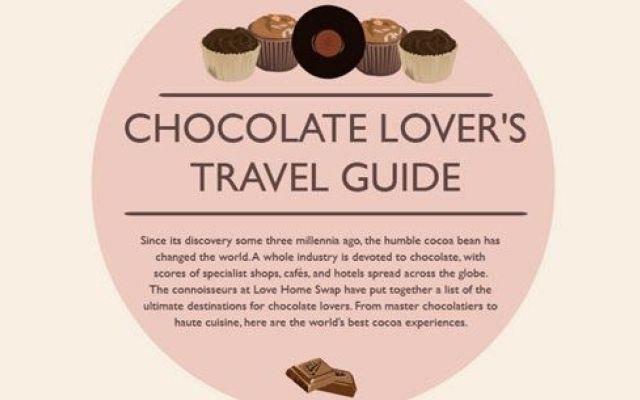 Amanti del cioccolato? Ecco la guida turistica che fa per voi! #viaggi #cioccolato #infografica