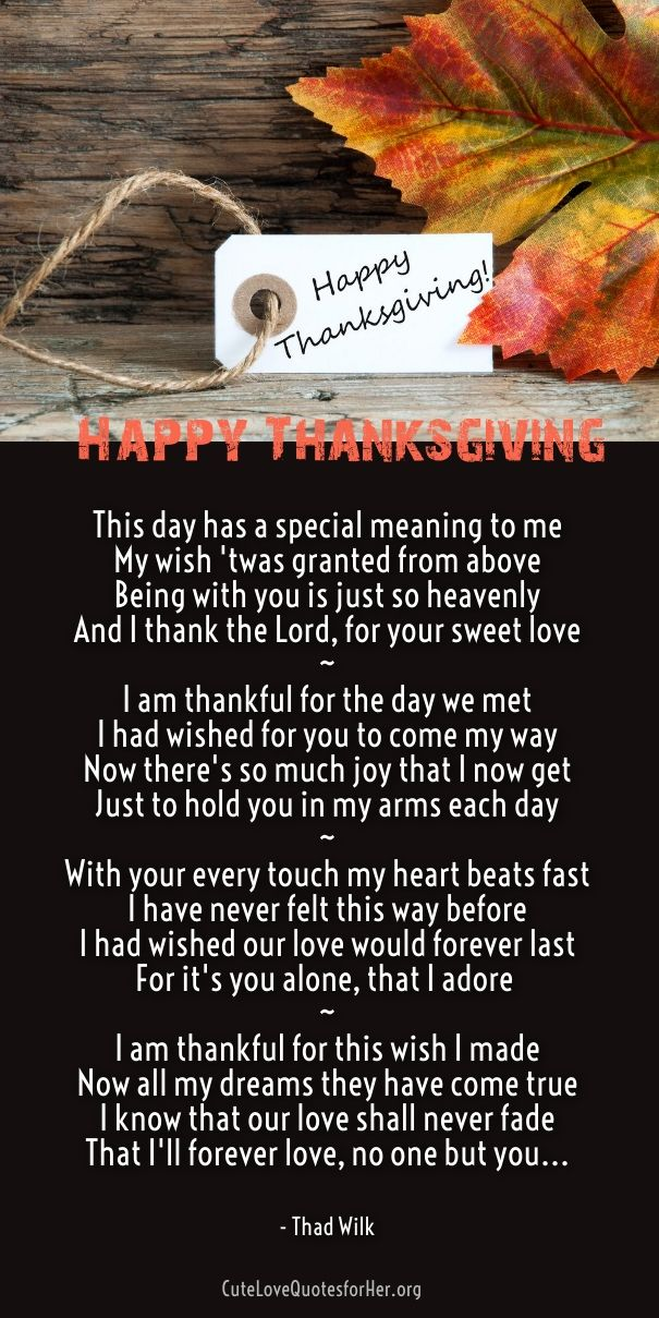 Thanksgiving Love Poems Thanksgiving Wishes Quotes 2018 Love