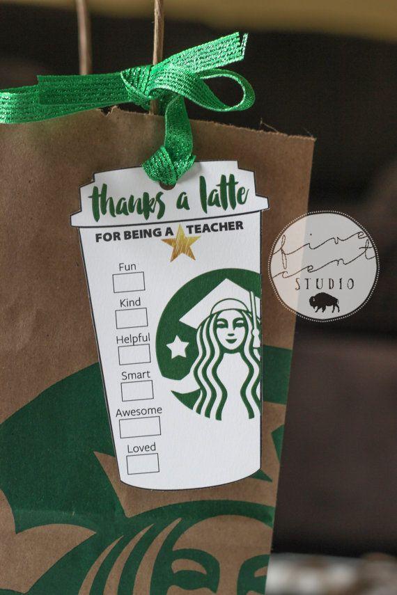 Star Teacher End of the School Year Appreciation Starbucks ...