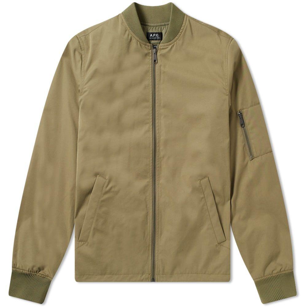 A P C Greg Ma 1 Bomber Jacket In Green Modesens Bomber Jacket Jackets Retail Fashion [ 1000 x 1000 Pixel ]