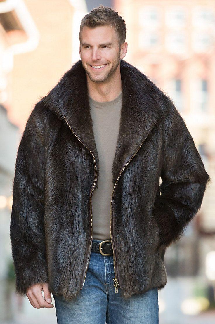 Ethan Beaver Fur Jacket Fur jacket, Mens fur coat