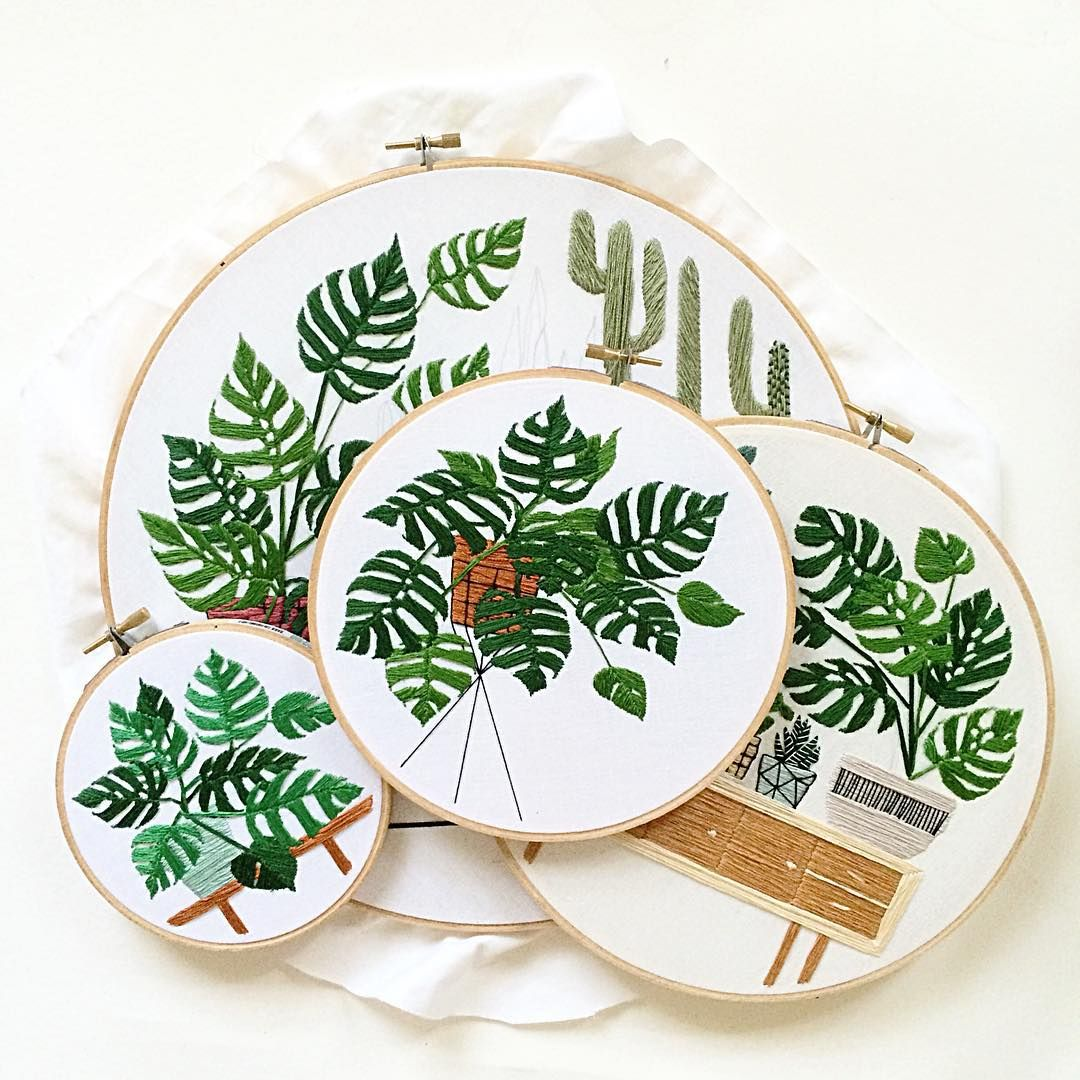 Plant embroidery by Sarah Benning