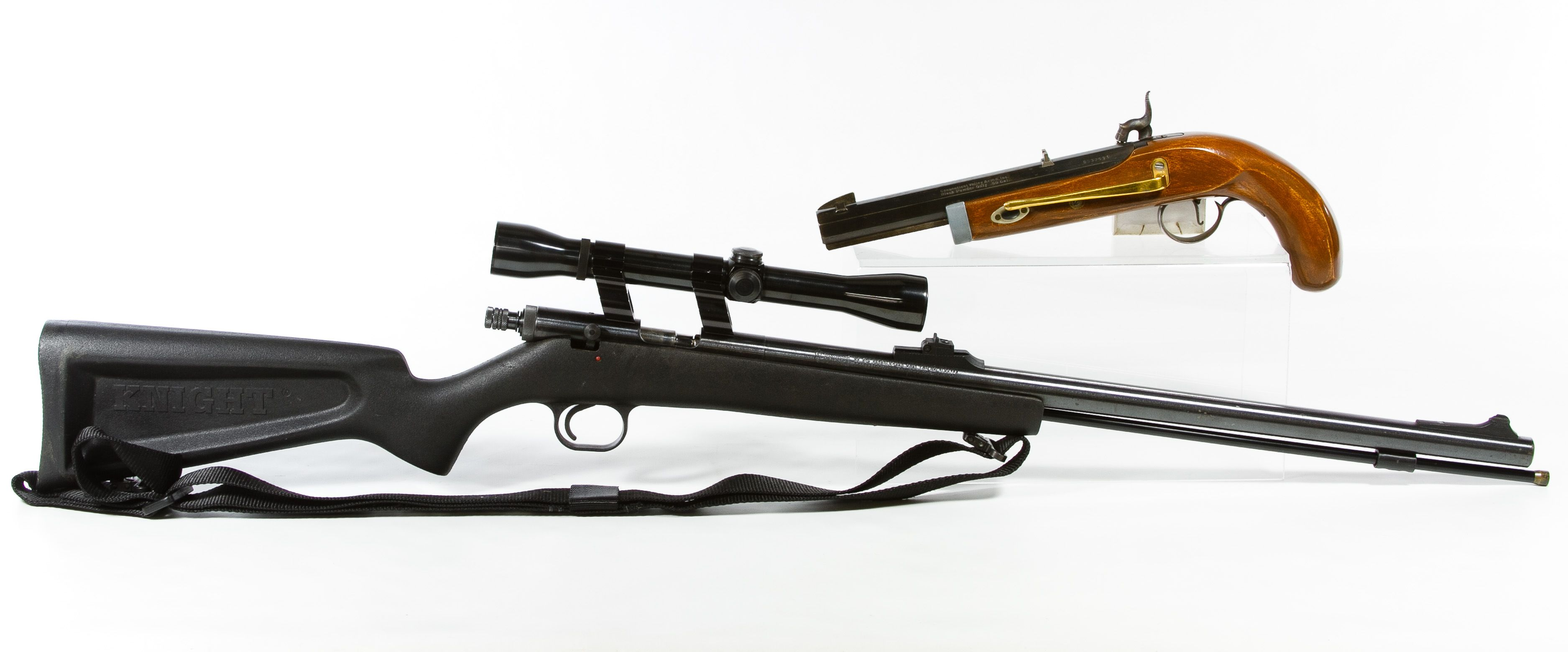 Lot 378: Black Powder Rifle (Serial #249181) and Pistol