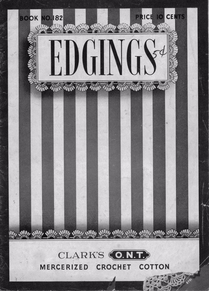 Crochet Knitting Patterns 100 Edgings Lingerie Baby Filet Linens Vintage 1942 #CoatsClark #PatternBook