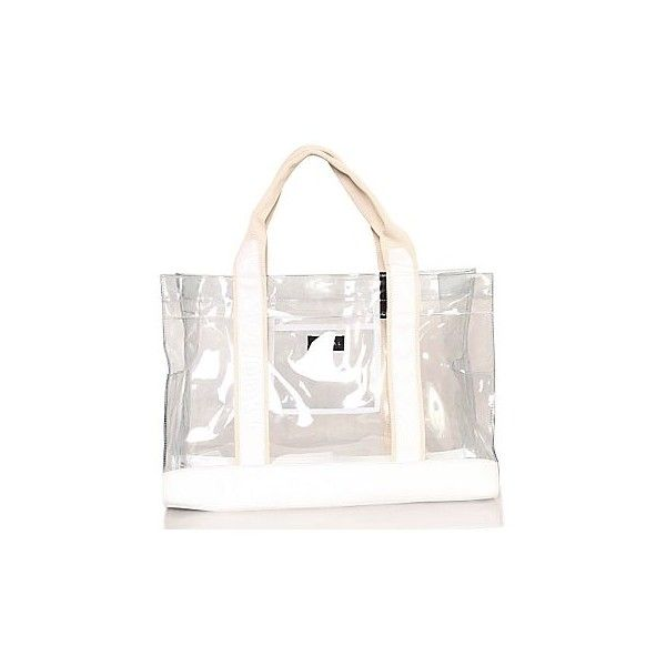 Beach Bags Vinyl Clear Tote Liked On Polyvore Featuring Handbags