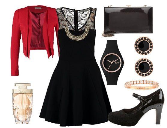 Mariage robe noire accessoires