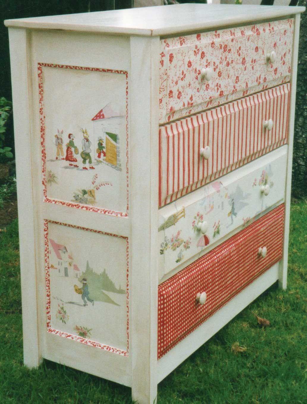 4 Drawer Pattern Dresser Hand Painted Children S
